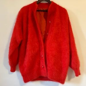 Plus Vintage Red Mohair Sweater